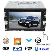 "Double 2Din 6.2"" Car Stereo DVD CD MP3 Player HD InDash Bluetooth TV Radio MX"