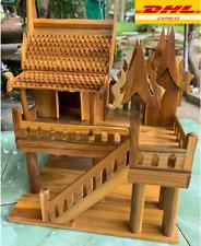 "Dollhouse Thai Wooden Vintage House Handcraft Antique Model Kit  8"" x 13"" x 15"""