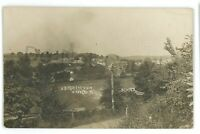 RPPC Aerial View ASPERS PA Railroad Station Adams County Real Photo Postcard