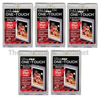 5x Ultra PRO One-Touch 35pt Magnetic Card Display Holder Protector UV Protection