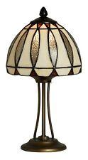 Mission Style Tiffany Uniques Verre Teinté Lampe Bureau Table - 20cm Large