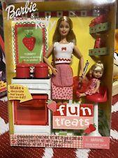 Nib 2001 Barbie & Kelly Doll Fun Treats Sisters Gift Set Mattel #55578