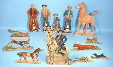 1950 Hopalong Cassidy William Boyd 13 Punch Out Western Cowboy Figures Whitman