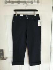 New listing NWT Style & Co. Curvy Cuffed Capri Jeans Black ~ Size 2