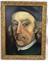 Original Oil Painting Portrait St Edmond Arrowsmith Catholic Martyr Priest Relic