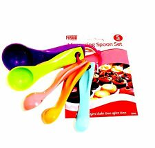 Measuring Spoon Set 5 PC Spoons Plastic Colour Cup Baking Cooking Kit Kitchen