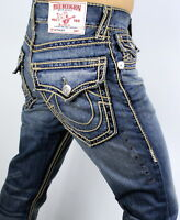 True Religion $349 Hand Picked Ropestitch Straight Super T Jeans - 101118