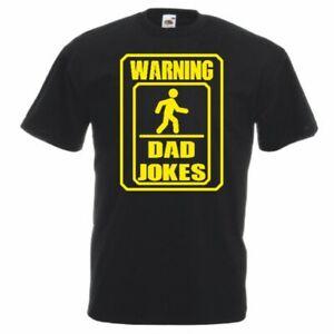 Warning Dad Jokes T Shirt Black Size Medium