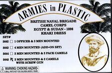 Armies in Plastic Egypt & Sudan British Naval Camel Corps Khaki w/Screw Gun #4