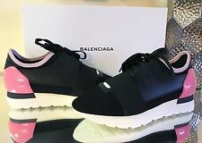 Balenciaga Mixed Media Black Pink Trainer Trainers Sneaker Sneakers Shoes 37 NIB
