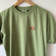 Vintage Hodge Podge T-Shirt Size XL Green Shark Print Surf Beach Wear 90s Tee