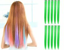 """10 PCS 22"""" Straight Colored Party Highlight Clip on in Hair Extensions New York"""