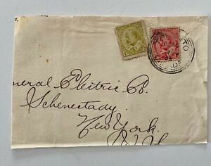 1905 Edward VII Toronto to General Electric Co Schenectady New York Part Cover