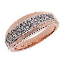 Damen Eternity Ring echt Silber 925 Sterlingsilber rosegold gold mit Zirkonia