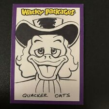 2014 Topps Wacky Packages Series 1 QUACKER OAT JOHN MONSERRAT Sketch Card 1/1