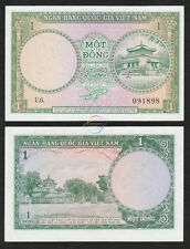 SOUTH VIETNAM 1 Dong, 1956, P-1, Temple, UNC
