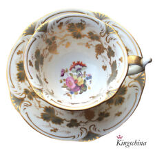 More details for rare rockingham griffin mark cabinet cup & saucer by steele ? plate vase