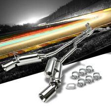 "4.5"" Dual Roll Slant Muffler Tip Exhaust Catback System TYP-3 For 09-19 370Z Z34"