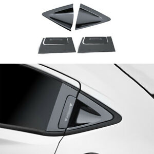 Fit for Honda HR-V Vezel 2016-2020 Black Titanium Rear Triangle Door Handle Trim