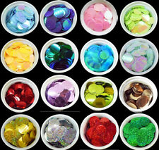 41 COLOURS - 100 Large Round 30MM Loose Sequin Flat Sewing Trim Costume BU1209