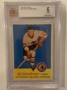 Ed Litzenberger 1957-58 Topps Rookie #26 BVG 6 Blackhawks