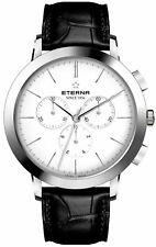 Eterna 2760.41.10.1383 Men's Swiss Quartz Chronograph Stainless Steel Watch