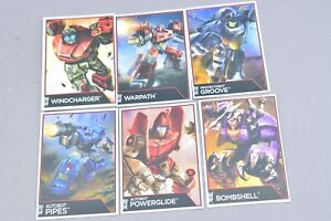 Transformers Combiner Wars Collector Cards Lot of 6 Generations Groove Pipes