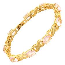 Melina Jewelry Charming Pink Sapphire Tennis Bracelet Jewelry New