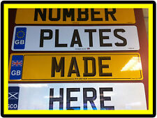 CAR TRAILER CARAVAN BIKE RACK NUMBER PLATES REGISTRATION PLATES AND SHOW PLATES