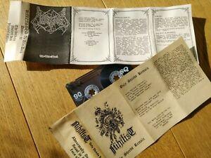 Unleashed / Nihilist Demos Tape Swedish Death Metal Entombed Todessehnsucht