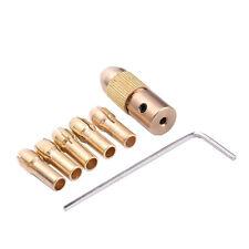 7 Pcs 0.5-3mm Small Electric Drill Bit Collet Mini Twist Drill Tool Chuck Set