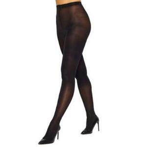 HUE 252046 Women's Sheer to Waist Opaque Tight Black Size 3