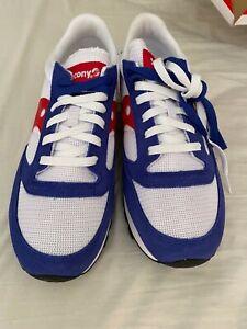 Mens Saucony Jazz Trainer Sneaker UK8.5 Red White Blue