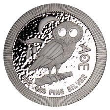 2017 Niue 1 Troy oz .999 Silver Athenian Owl $2 Uncirculated Coin SKU45830