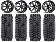 "MSA Black Kore 14"" UTV Wheels 30"" Regulator Tires Can-Am Maverick X3"