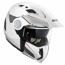Givi X01 Tourer Full Face Modular Motorcycle Crash Helmet White Small