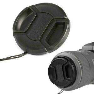 Portable 52mm Center Pinch Snap Front Lens Cap Cover for Canon high Camera AU