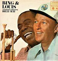"""BING AND LOUIS Bing Crosby Louis Armstrong Vintage 12"""" Vinyl LP gb"""