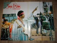JIMI HENDRIX  at woodstock affiche cinema musique documentaire 1994