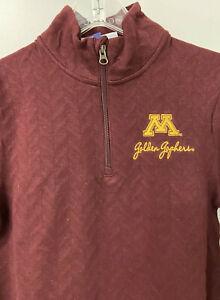 NEW CHAMPION Mens Lightweight 1/4 Zip size SMALL NCAA Minnesota Golden Gophers