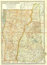 Vermont NEW HAMPSHIRE. mostra GUERRE rivoluzionarie battaglie Date/1775-77 1903 Mappa