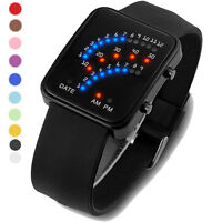 NEW Sale Men Womens Watches Silicone Band Digital LED Sport Wrist Watch Gift Hot