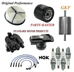 Tune Up Kit Filters Cap Wire Spark Plugs For ISUZU RODEO L4 2.6L 1994-1995