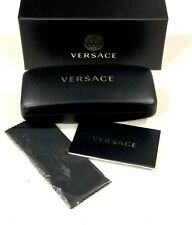 Versace Black Set Hard Cell Eyeglasses Sunglasses Medium Case Cloth Box Optical