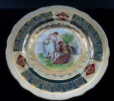 Antique Royal Vienna peint à la main et lourdement doré signé Cabinet plaque C1900