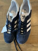 Adidas Gazelle  Blue White Trainers U.K. 8 EU 42 Brand New Trainers