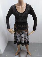 Vestito DESIGUAL Donna taglia size S vestitino dress woman viscosa maglia p 5586