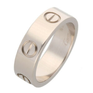 Cartier ring White gold Love ring 50 US size 5.5 Auth #080608
