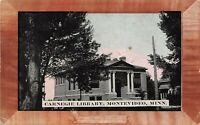 D56/ Montevideo Minnesota Mn Postcard 1910 Carnegie Library Building