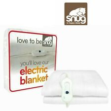 Snug Electric Blanket Heated Love To Be Snug Small Double White Blanket New